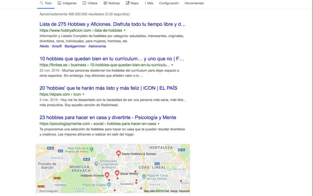 ¿Quién busca hobbies y aficiones en español en internet?