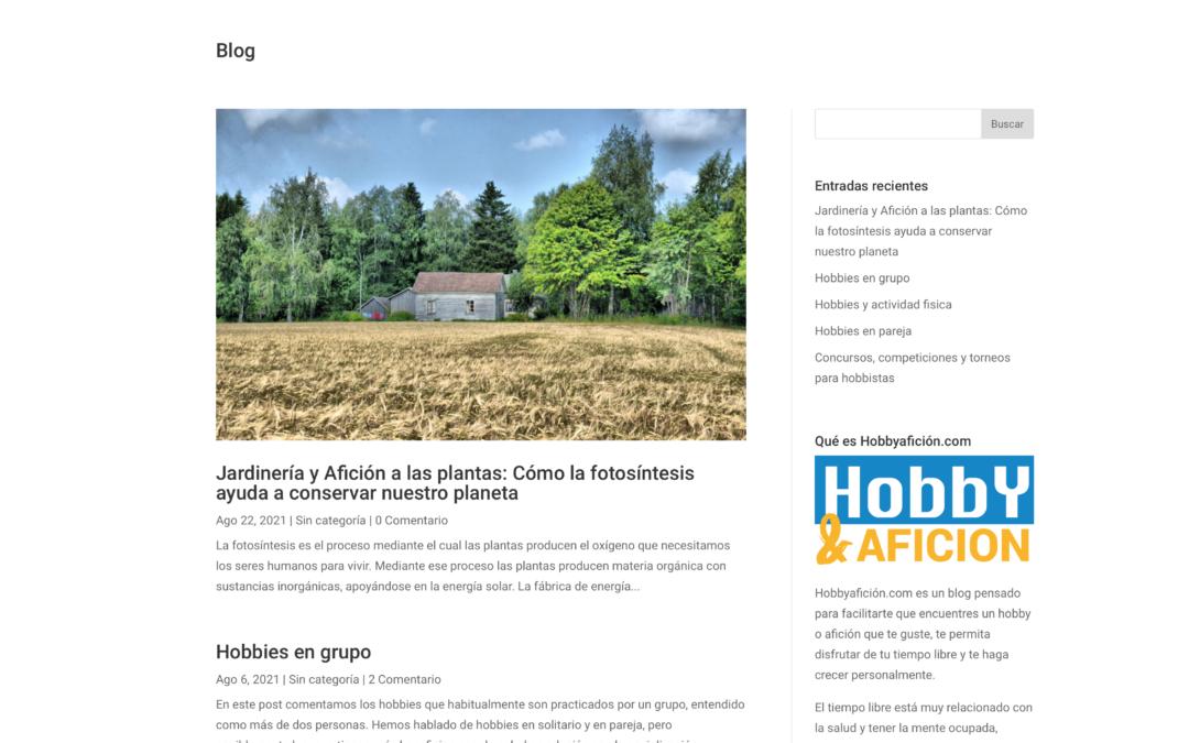 Hobbyaficion y su blog